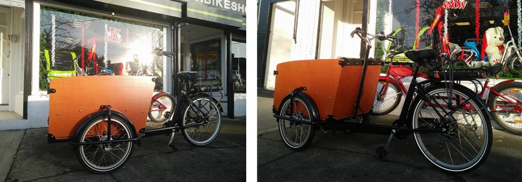 Our new Babboe Big cargo bicycle
