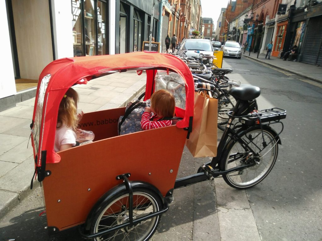 Cargo bike in Dublin city centre Ireland